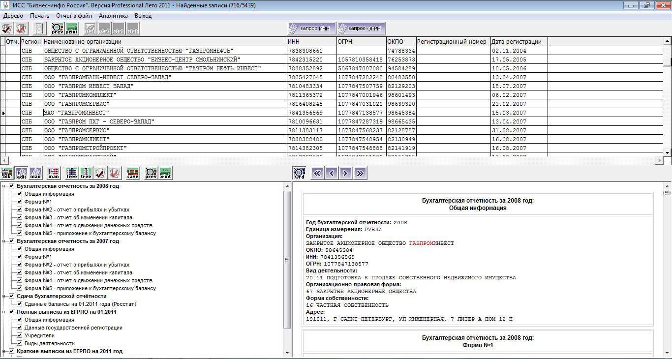 1-5 формы бухгалтерской отчетности: